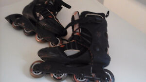 Patins a roues allignees