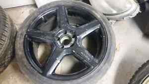 set of 4 mercedes amg rims & tires 19 inch