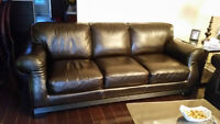 2 Sofa en cuir / 2 leather couches