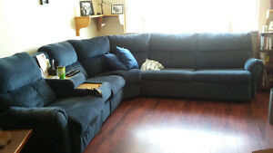Sectional with recliners for sale