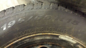 Pirelli winter tires 195/65/R15 on Volvo V70 rims