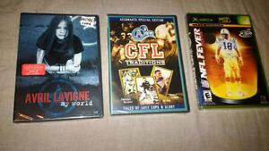 BRAND NEW DVD NFL XBOX NFL Fever 2004, Avril Levigne, CFL Argos