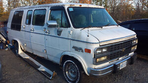 1996 Chevrolet G20 Van for parts, handicap outfitted
