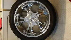 GM 6 bolt pattern 22 inch rims with used tires