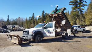 Ford F550 for sale with dump bed/ plow