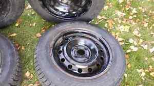 4 Winter Tires with Rims-185/65R15 Nexen+Winguard Tires Kitchener / Waterloo Kitchener Area image 2