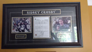 Sidney Crosby first goal signed game sheet