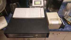 POS System with cash drawer and printer