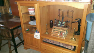Entertainment  Center. Solid Real Hardwood.