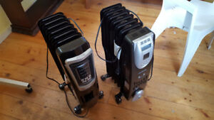 4 oil filled electric heaters, 1500 W