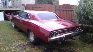 California true hardtop red 68 Dana Charger RT