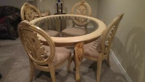 Dining Room Set, coffee table and end table (purchased from