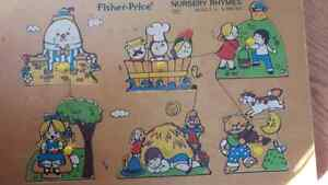 Vintage Fisher Price wooden puzzle  10.00