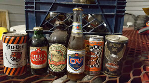 Old beer bottles and cans London Ontario image 1