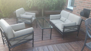 Patio Furniture Chair, Love seat, Sofa, table combination