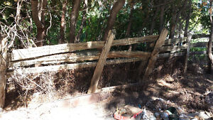 old fashioned wooden fence