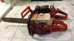 Two Husqvarna Rancher 50 Chainsaws for parts or repair $75