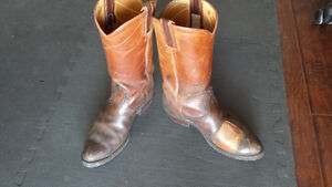 Leather motorcycle / cowboy boots