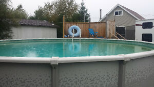 27 ft pool with propane water heater  Very negotiable