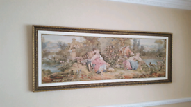 Large Framed Tapestry Picture