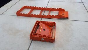 Grappins pliables en acier / traction aid