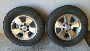 2015 TOYOTA TACOMA R17 WHEELS AND TIRES
