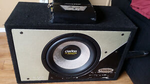 "12"" Clarion ProAudio Sub and Alpine hamp"