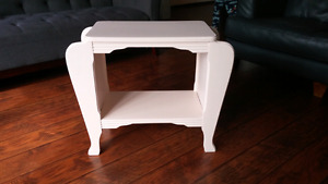 Antique refinished magazine table
