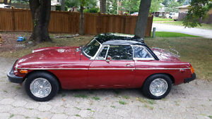 1976 Red Convertible MGB
