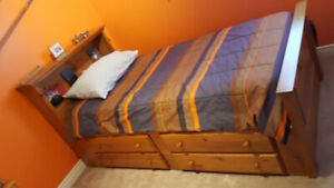 Captain's Bed/Dresser Set & Desk for Sale