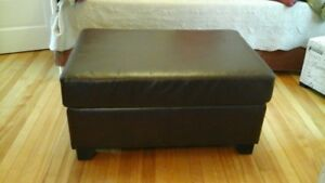 Large  Leather Coffee Table/Ottoman