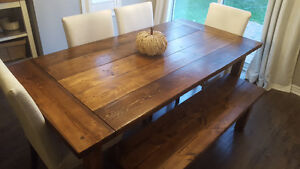 "2"" Thick, Rustic Pine Dining Tables Starting At Only $650 Kitchener / Waterloo Kitchener Area image 6"