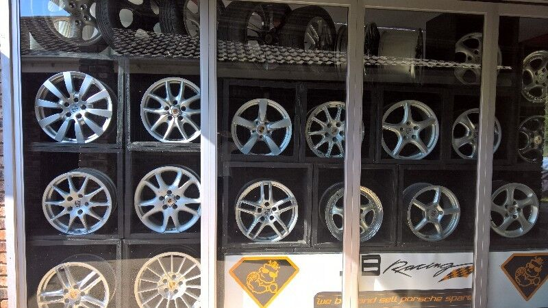 "Porsche wheels over 60 sets in stock from 15"" to 21"""