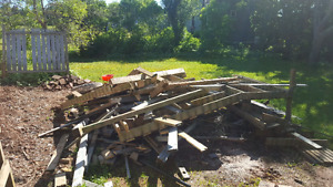 Free lumber/wood for wood stove