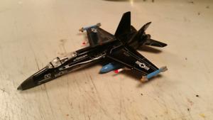 Diecast toy airplane F18