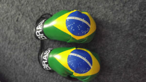soccer mini gloves Brazil new