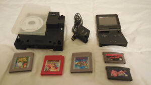 Gameboy Advance + Gamecube Gameboy Player Accessory + Games