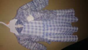 12 month Carter's dress and knitted jacket.