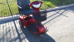 Invacare Pegasus Scooter 3 wheels red color.