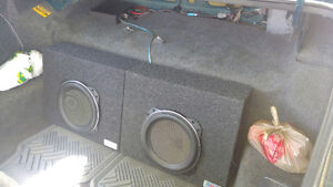 "10"" Kenwood Subs in boxes + Kicker Amp"
