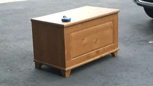 Ikea toy chest made of wood