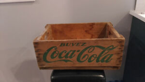 1964 coke cola wood crate