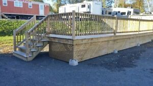 40 FT X 10 FT PRESSURE TREATED DECK