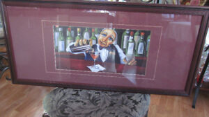 Will Rafuse    The Bartender  framed painting
