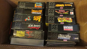 Lot of SNES Nintendo Games Mario Final Fight Top Gear Ect..