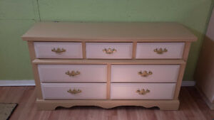 Professionally painted today two color matching dressers $169