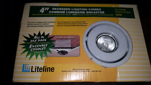 Recessed lighting combo