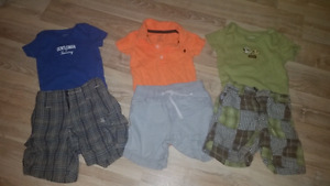Boys 6/9 month summer outfits