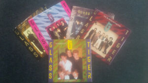 Five Glass Tiger 45 Vinyl Records - one with sleeve poster Cambridge Kitchener Area image 1
