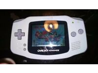 RARE Gameboy Advance white with 1 game, used for sale  Manchester